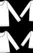 Пуловер двошаровий простого крою - фото 3