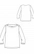 Пуловер-тільник з вирізом човником - фото 3