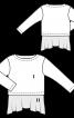 Пуловер с эффектом многослойности - фото 3
