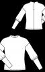 Пуловер с высокими манжетами на рукавах - фото 3