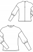 Пуловер з коміром-стойкою і пишними рукавами - фото 3