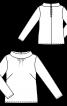 Блузка прямого силуету з широким коміром-стойкою - фото 3