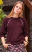 Пуловер з рукавами реглан і кантами - фото 1