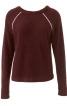 Пуловер з рукавами реглан і кантами - фото 2