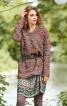 Пуловер прямого крою з в'язаного полотна - фото 1