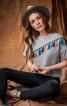 Пуловер з асиметричною кокеткою - фото 1