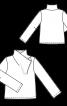 Пуловер з високим суцільнокроєним коміром - фото 3