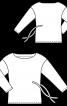 Пуловер прямого крою із зав'язками на талії - фото 3