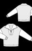 Пуловер просторий з коміром на блискавці - фото 3