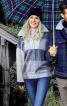 Пуловер просторий з коміром на блискавці - фото 1