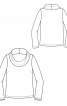 Пуловер прямого крою з широким коміром-хомутом - фото 3