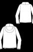 Пуловер прямого кроя с широким воротником-хомутом - фото 3