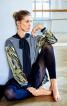 Пуловер прямого кроя с застежкой на спинке - фото 1