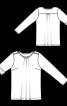 Пуловер прямого крою з погонами - фото 3