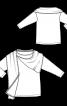 Пуловер із широким вшивним шарфом - фото 3