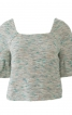 Короткий пуловер з оборками на рукавах - фото 2