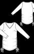 Пуловер прямого крою з кулісками в бокових швах - фото 3