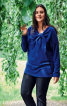 Пуловер з драпіровкою біля горловини - фото 1