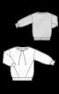 Пуловер с карманами в рельефных швах - фото 3