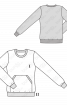 Пуловер прямого крою з кишенею-кенгуру  - фото 3
