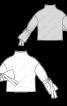 Пуловер прямого крою із зав'язками на рукавах - фото 3