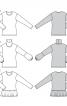Пуловер простого крою з баскою - фото 7