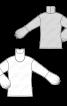 Пуловер простого крою з пишними рукавами - фото 3