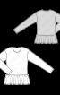 Пуловер простого крою з баскою - фото 3