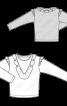 Пуловер прямого крою з оборками - фото 3