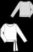 Пуловер прямого крою із зав'язками - фото 3