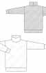 Пуловер довгий з високим коміром-стойкою - фото 3