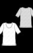 Пуловер прямого крою з короткими рукавами - фото 3