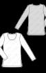 Пуловер з довгими рукавами і круглим вирізом горловини - фото 3