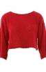 Пуловер короткий з вирізом горловини човником - фото 2