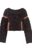 Пуловер зі штучного хутра з кишенею-кенгуру - фото 2