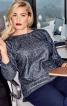 Пуловер прямий з видовженою спинкою - фото 1