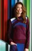 Пуловер прямого крою з коміром-стійкою - фото 1