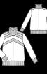 Пуловер прямого крою з коміром-стійкою - фото 3