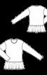 Пуловер простого крою з оборкою - фото 3