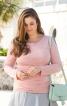 Пуловер зі зборками в бокових швах - фото 1