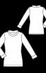 Пуловер із вкороченими рукавами - фото 3
