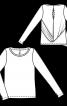 Пуловер прямий з драпіровкою на спинці - фото 3