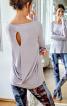 Пуловер прямий з драпіровкою на спинці - фото 1