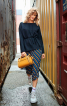 Пуловер приталеного силуету з асиметричним низом - фото 1
