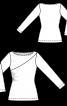 Пуловер обтислого крою зі зборками у шві - фото 3