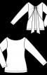 Пуловер із драпірованими деталями на спинці - фото 3