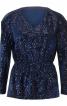 Пуловер оксамитовий з пайєтками - фото 2