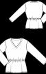 Пуловер оксамитовий з пайєтками - фото 3