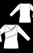 Пуловер із драпіровкою і ефектом запаху - фото 3