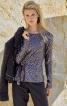 Пуловер з вузькими рукавами і зав'язкою - фото 1